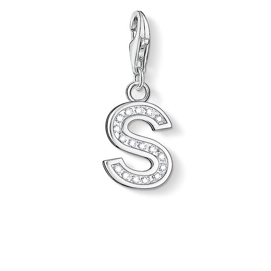 "Charm pendant ""letter S"" from the  collection in the THOMAS SABO online store"