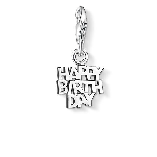 "ciondolo Charm ""HAPPY BIRTHDAY"" from the  collection in the THOMAS SABO online store"
