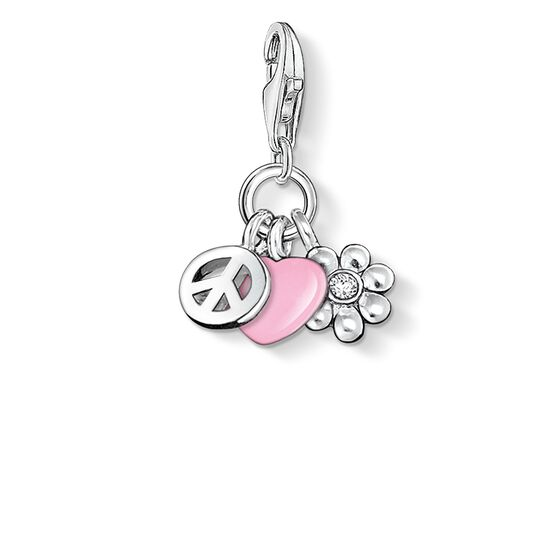 "ciondolo Charm ""love & peace"" from the  collection in the THOMAS SABO online store"