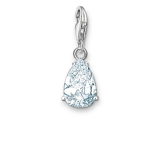 "Charm pendant ""white droplet"" from the  collection in the THOMAS SABO online store"