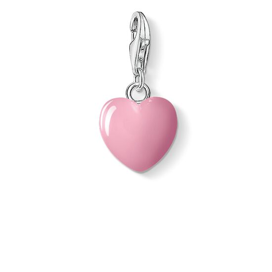 "ciondolo Charm ""cuore rosa"" from the  collection in the THOMAS SABO online store"