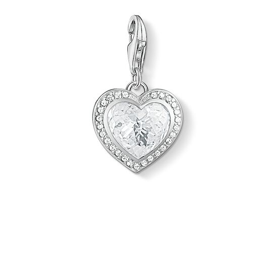 """Charm pendant """"white heart"""" from the  collection in the THOMAS SABO online store"""