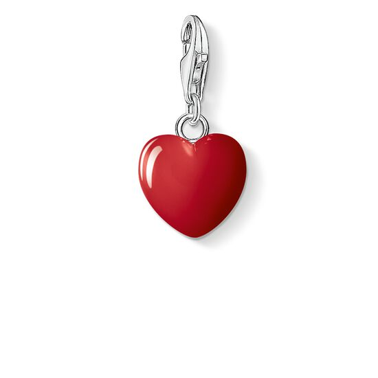 """ciondolo Charm """"cuore rosso"""" from the  collection in the THOMAS SABO online store"""