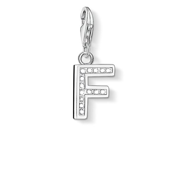 "Charm pendant ""letter F"" from the  collection in the THOMAS SABO online store"