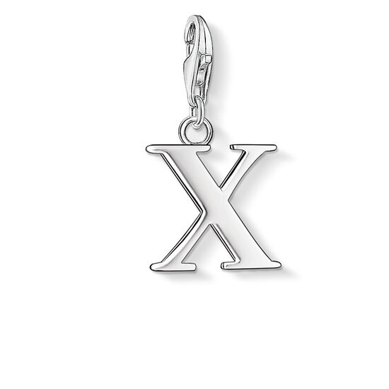 "ciondolo Charm ""lettera X"" from the  collection in the THOMAS SABO online store"