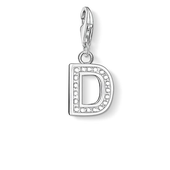 "Charm pendant ""letter D"" from the  collection in the THOMAS SABO online store"