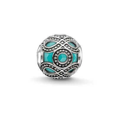 "Bead ""turquoise ethnic"" from the Karma Beads collection in the THOMAS SABO online store"