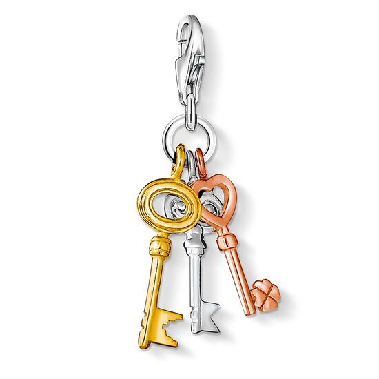 "Charm pendant ""three keys"" from the  collection in the THOMAS SABO online store"