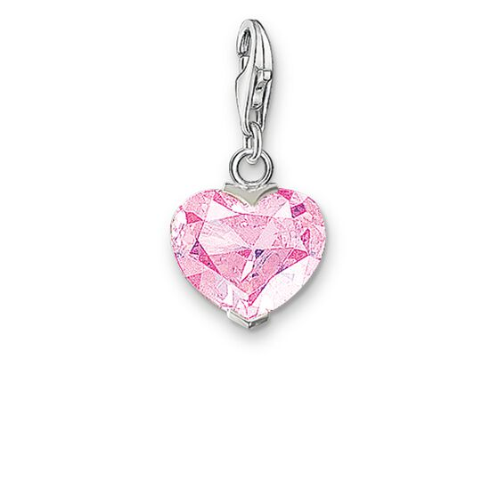 "Charm pendant ""pink heart"" from the  collection in the THOMAS SABO online store"