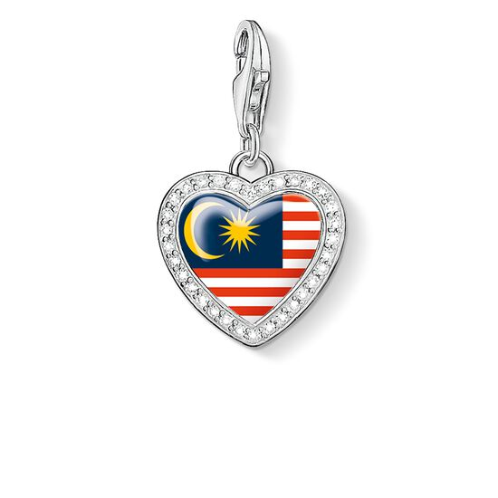 "Charm pendant ""heart flag Malaysia"" from the  collection in the THOMAS SABO online store"