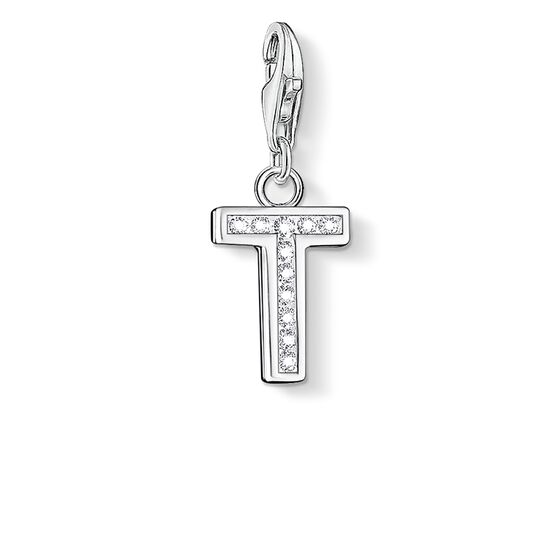 "Charm pendant ""letter T"" from the  collection in the THOMAS SABO online store"