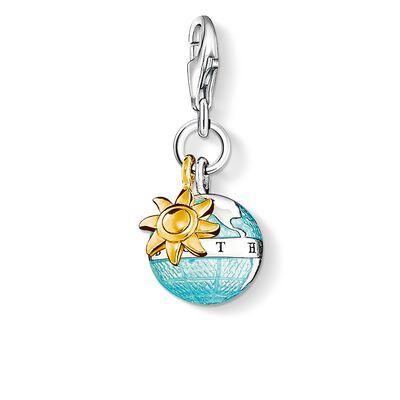 """Charm pendant """"globe"""" from the  collection in the THOMAS SABO online store"""