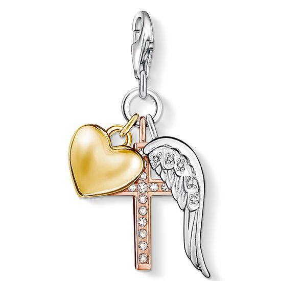 "Charm pendant ""cross, heart, wing"" from the  collection in the THOMAS SABO online store"