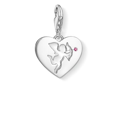 """Charm pendant """"Heart with Cupid"""" from the  collection in the THOMAS SABO online store"""