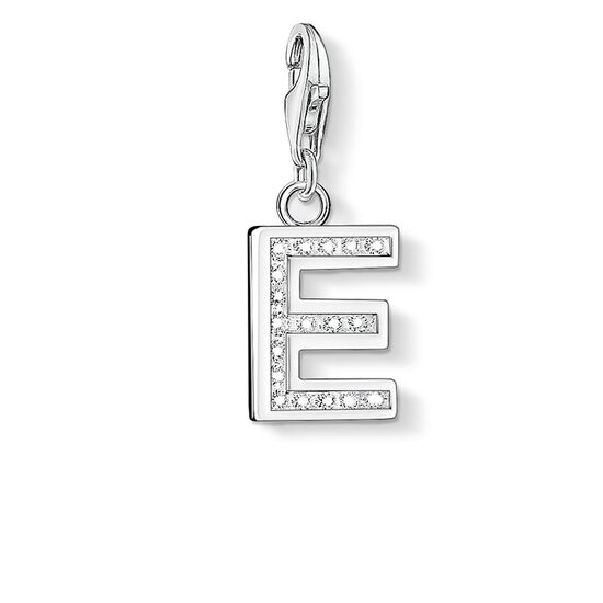 """Charm pendant """"letter E"""" from the  collection in the THOMAS SABO online store"""