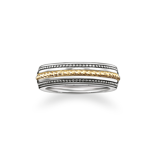 bague ruban  maille corde de la collection Rebel at heart dans la boutique en ligne de THOMAS SABO