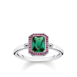 anillo Piedras rojo y verde plata de la colección Glam & Soul en la tienda online de THOMAS SABO