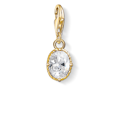 Charm pendant white stone from the Charm Club Collection collection in the THOMAS SABO online store