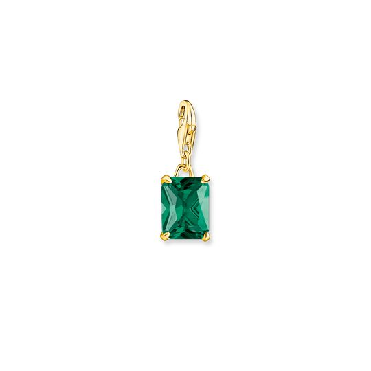 Charm pendant large green stone from the  collection in the THOMAS SABO online store