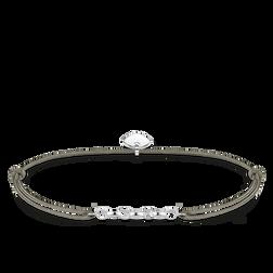 Thomas Sabo Women-Bracelet Little Secrets 925 Sterling silver grey LS022-378-5-L20v tWNIh