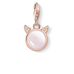 charm pendant cat's ears rose gold from the Charm Club Collection collection in the THOMAS SABO online store