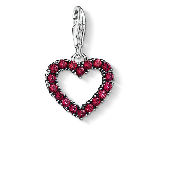 Charm pendant Heart with hot pink stones from the Charm Club collection in the THOMAS SABO online store