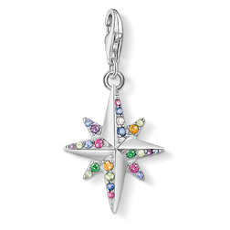Charm pendant Colourful star, silver from the Charm Club Collection collection in the THOMAS SABO online store