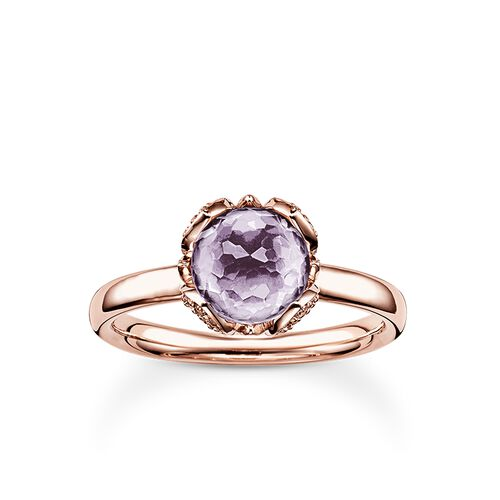 "solitaire ring ""purple lotus flower"" from the Glam & Soul collection in the THOMAS SABO online store"