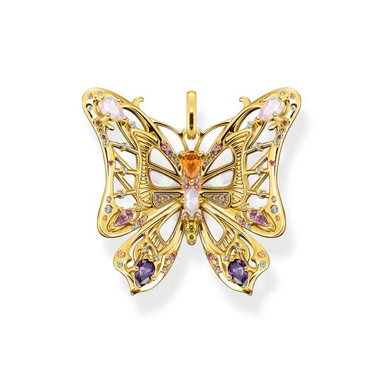 Pendant butterfly colourful stones silver-gold from the  collection in the THOMAS SABO online store