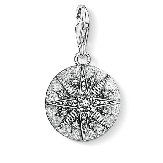 Charm pendant Disc Star from the  collection in the THOMAS SABO online store