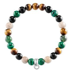 "Charm bracelet ""Brown, green, white"" from the  collection in the THOMAS SABO online store"