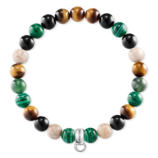 Charm bracelet brown, green, white from the Charm Club collection in the THOMAS SABO online store