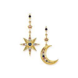 """pendientes """"Royalty estrella & luna"""" de la colección Glam & Soul en la tienda online de THOMAS SABO"""