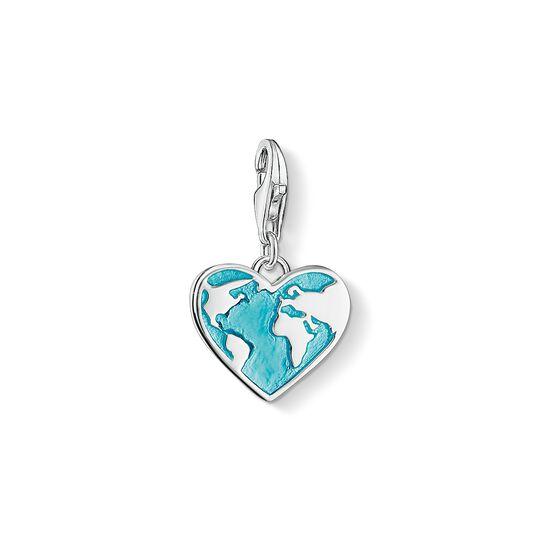 pendentif Charm cœur globe terrestre de la collection Charm Club dans la boutique en ligne de THOMAS SABO