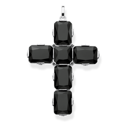 pendant Cross black stones, large from the Glam & Soul collection in the THOMAS SABO online store