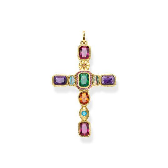 Pendentif croix  pierres colorées or de la collection  dans la boutique en ligne de THOMAS SABO