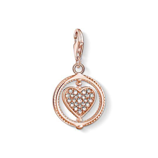 Pendentif Charm cœur avec pavé or rose de la collection Charm Club dans la boutique en ligne de THOMAS SABO