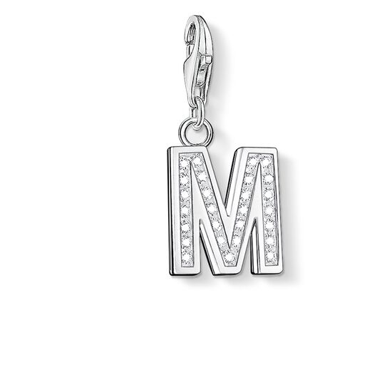 "Charm pendant ""letter M"" from the  collection in the THOMAS SABO online store"