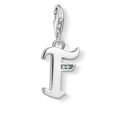 Charm pendant letter F silver from the Charm Club Collection collection in the THOMAS SABO online store