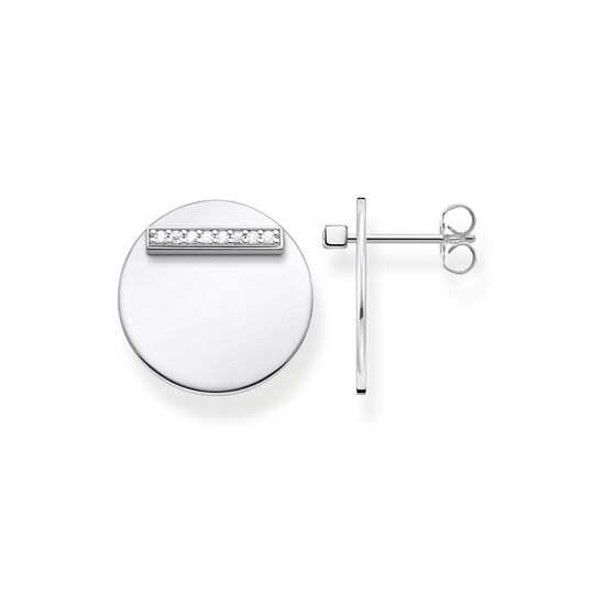 ear studs Together disc silver from the  collection in the THOMAS SABO online store