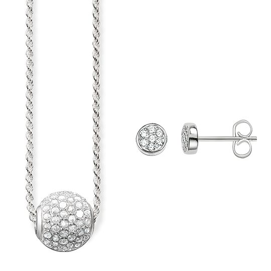 necklace & earstuds white pavé from the Glam & Soul collection in the THOMAS SABO online store