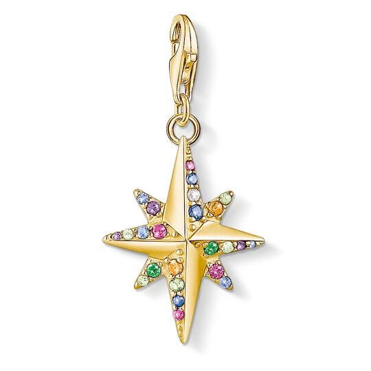 Charm pendant Colourful star, gold from the Glam & Soul collection in the THOMAS SABO online store