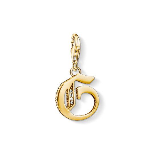 Charm-Anhänger Buchstabe G gold aus der Charm Club Kollektion im Online Shop von THOMAS SABO