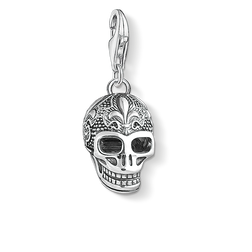Charm pendant skull with lily from the Charm Club Collection collection in the THOMAS SABO online store