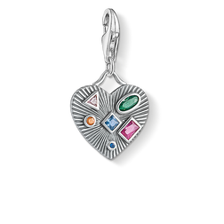 Charm pendant Heart colourful stones from the Glam & Soul collection in the THOMAS SABO online store