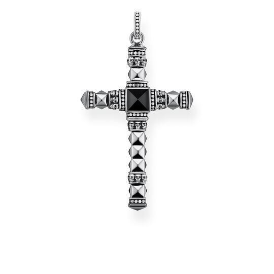 pendant black ethno cross medium from the Rebel at heart collection in the THOMAS SABO online store