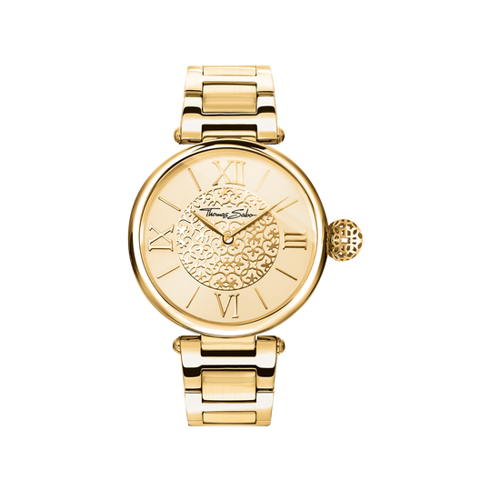 women's watch golden Ornaments from the Karma Beads collection in the THOMAS SABO online store