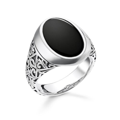 "ring ""black"" from the Rebel at heart collection in the THOMAS SABO online store"