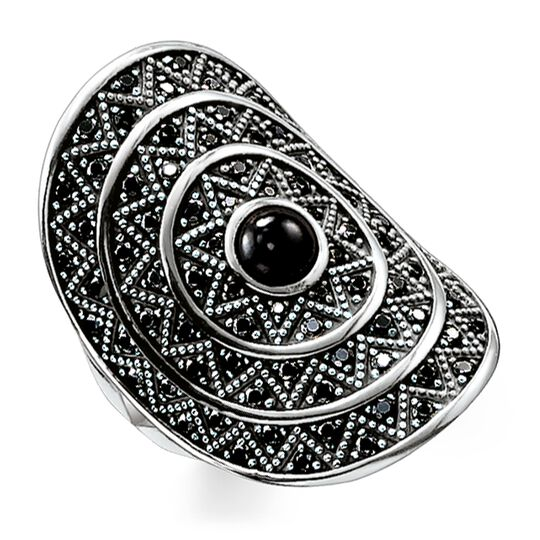 """ring """"black zig zag"""" from the Glam & Soul collection in the THOMAS SABO online store"""