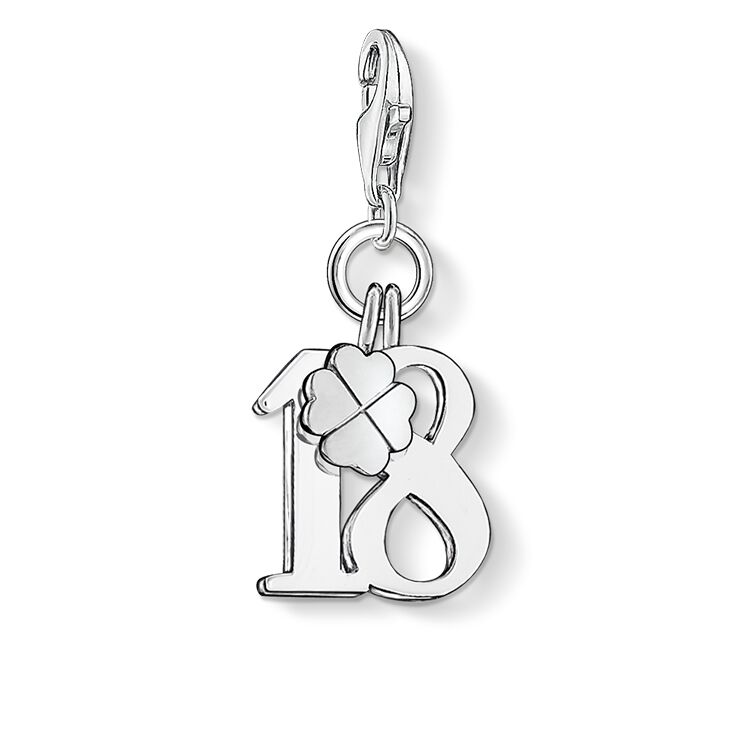 Charm Pendant Lucky Number 18 0473